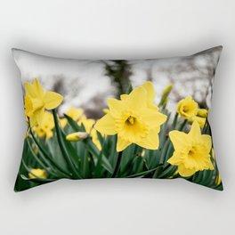 Daffodils in garden Rectangular Pillow