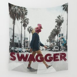 Swagger - Grungy Digital Collage Wall Tapestry