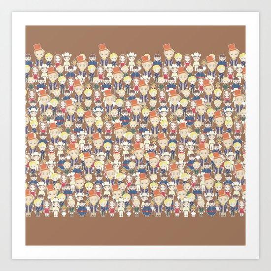 Willy Wonka Pattern Art Print