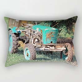 Old traditional Lindner tractor | conceptual photography Rectangular Pillow