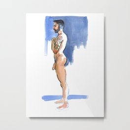 JUSTIN, Nude Male by Frank-Joseph Metal Print