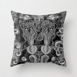 The Kraken (Black & White - No Text) Throw Pillow