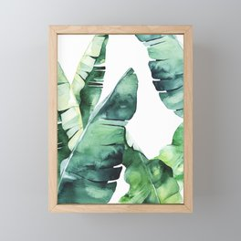 Tropical Banana Leaves Framed Mini Art Print