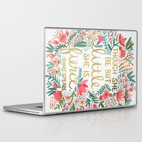 friend Laptop & iPad Skins featuring Little & Fierce by Cat Coquillette