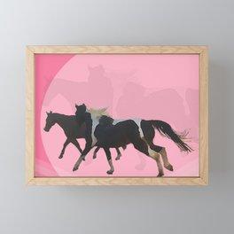 in running color Framed Mini Art Print