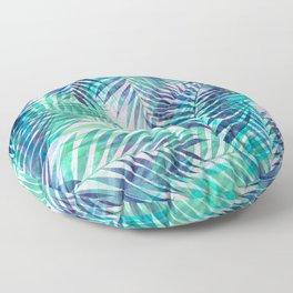 Palm Leaves - Indigo Green Floor Pillow