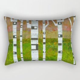 Springtime Birches Rectangular Pillow