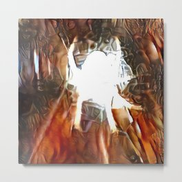 Abstract Spider Metal Print