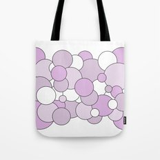 Bubbles - purple and white. Tote Bag