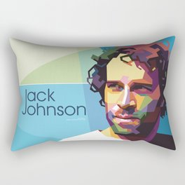 Jack Johnson WPAP Rectangular Pillow