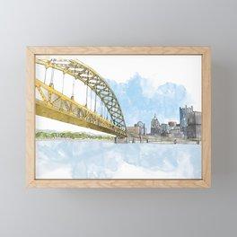 Fort Pitt Bridge Framed Mini Art Print