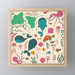 Sea creatures 003 Framed Mini Art Print