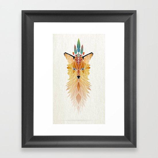fox spirit  Framed Art Print