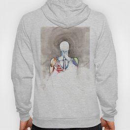 Non-apate, male back anatomy, NYC artist Hoody