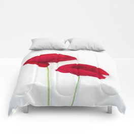 Two Red Poppies Comforters