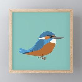 Common king fisher Framed Mini Art Print