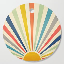 Sun Retro Art III Cutting Board