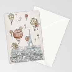 Voyages Over Paris Stationery Cards