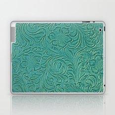 teal leather Laptop & iPad Skin