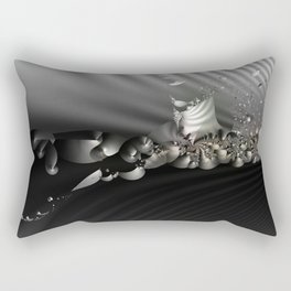 Storm of life renewal - Black and white with a hint of tint Rectangular Pillow