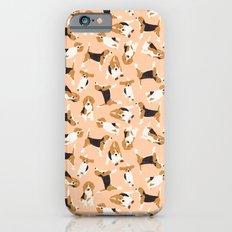 beagle scatter peach iPhone 6s Slim Case