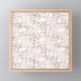 Rose Gold Leaves 2 Framed Mini Art Print