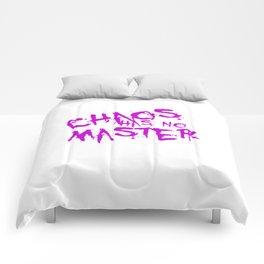 Chaos Has No Master Purple Graffiti Text Comforters