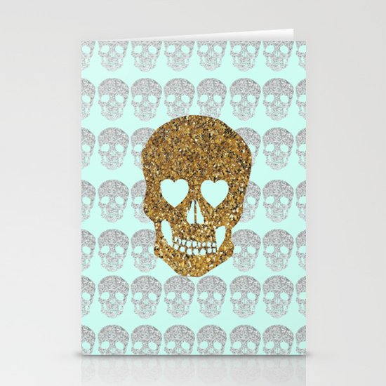 skulls & heartz;; Stationery Cards