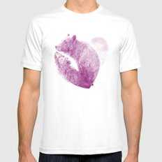 Bear your Heart Mens Fitted Tee MEDIUM White
