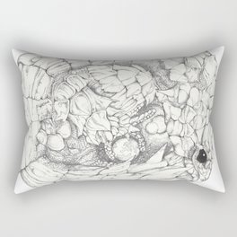 Scaley Knight Rectangular Pillow