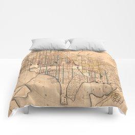 Vintage Map of Washington D.C. (1879) Comforters