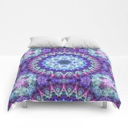 Sacred Lotus Mandala Comforters