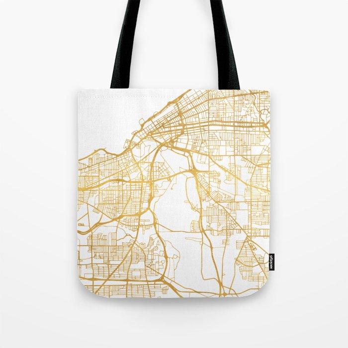 CLEVELAND OHIO CITY STREET MAP ART Tote Bag