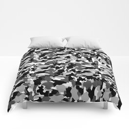 black and white Background Pattern Camo Comforters