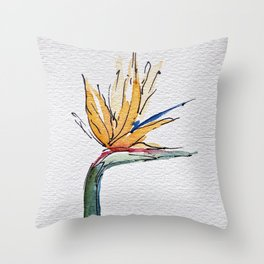 Bright Tropical Flower  Throw Pillow