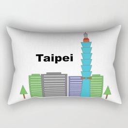 Taipei 101 Cityscape Rectangular Pillow