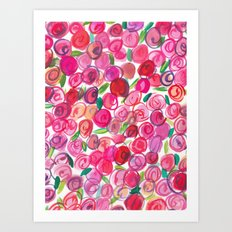 Rosie Pink Art Print