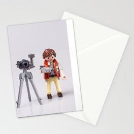Photographer man. Playmobil Stationery Cards
