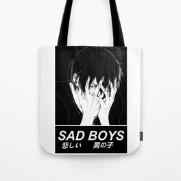 SAD BOYS - SAD JAPANESE ANIME AESTHETIC Tote Bag
