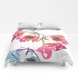 flowing flowers Comforters