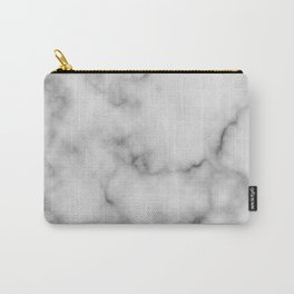 White Marble Pattern Carry-All Pouch