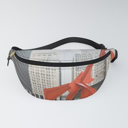Chicago with a Splash of Red Fanny Pack