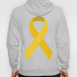 Yellow Awareness Support Ribbon Hoody