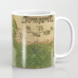 Map Of Mexico 1595 Coffee Mug