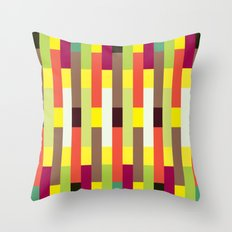 Multicolour stripes pattern Throw Pillow