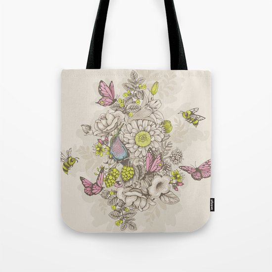 Beauty (eye of the beholder) - cream version Tote Bag