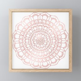 Rose Gold Boho Mandala Framed Mini Art Print