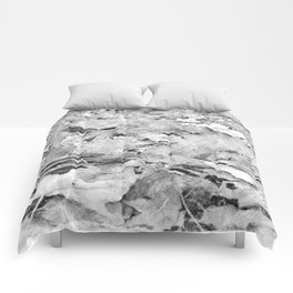 black white autumn leaves pencil sketch Comforters