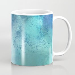 Abstract navy blue teal turquoise watercolor pattern Coffee Mug