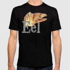 E is for Eel Mens Fitted Tee Black MEDIUM